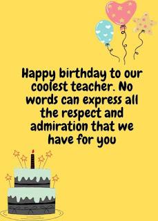 beautiful birthday wishes for teacher