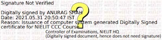 Verify CCC Certificate Digital Signature