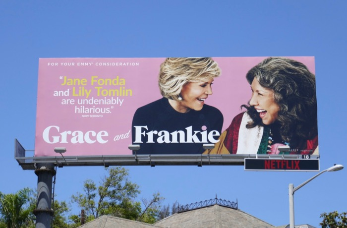 Grace and Frankie 2019 Emmy consideration billboard