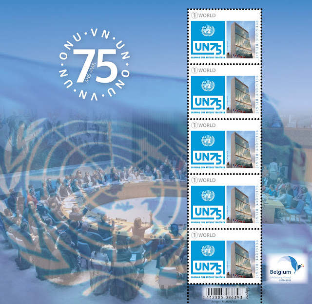 Belgium 75 years of the UN Sheet