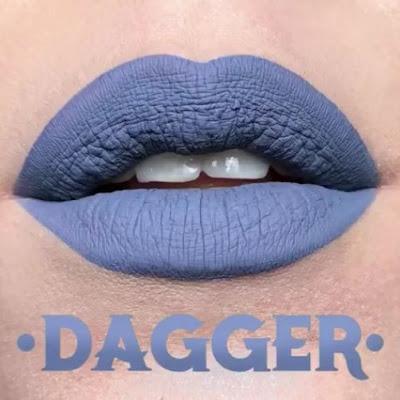 kat von d Everlasting Liquid Lipstick lip swatch dagger
