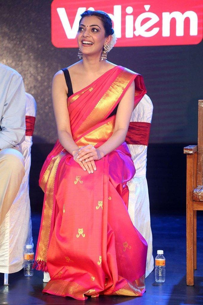 Kajal Aggarwal at Nene Raju Nene Mantri Audio Launch Function Photos