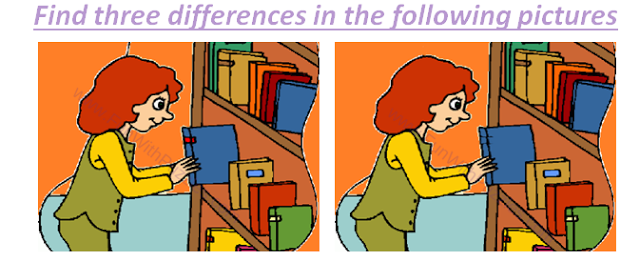 Spot The Differences Library Picture Puzzle