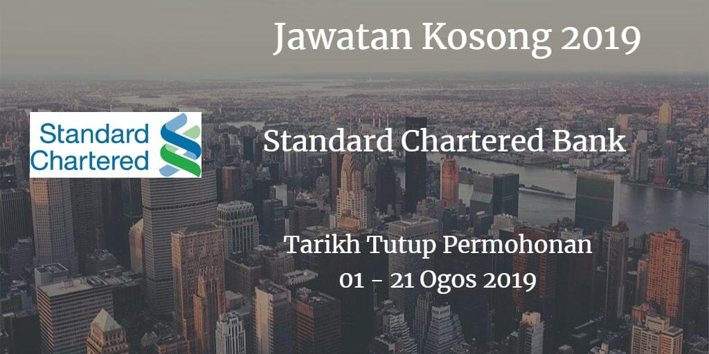Jawatan Kosong Standard Chartered Bank 01 - 21 Ogos 2019