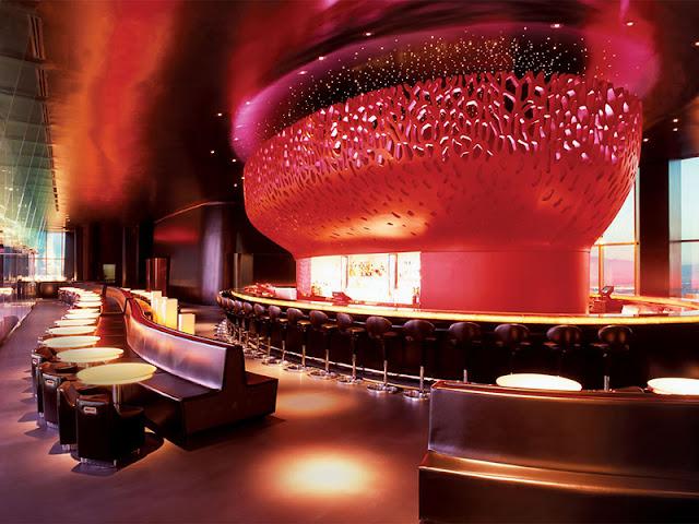 Decoração do Bar Mix Lounge em Las Vegas