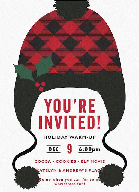 Holiday Warm Up Minted Invitation