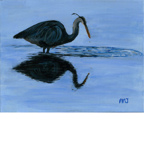 "Blue reflections- 5""x7"" Art Card"