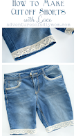 how to make cutoff shorts with lace
