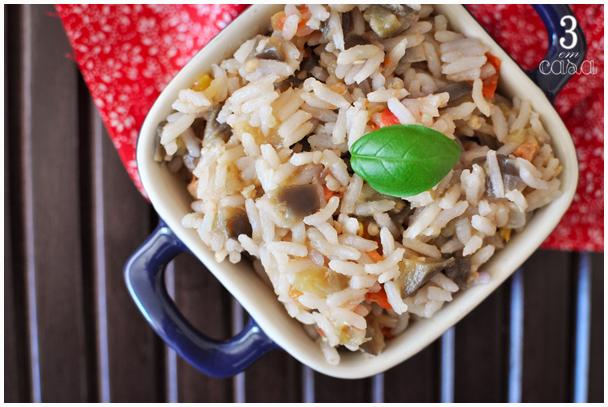 arroz berinjela e tomate receita