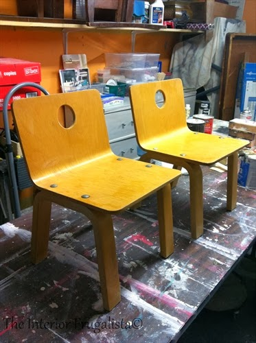Kids chairs before makeover