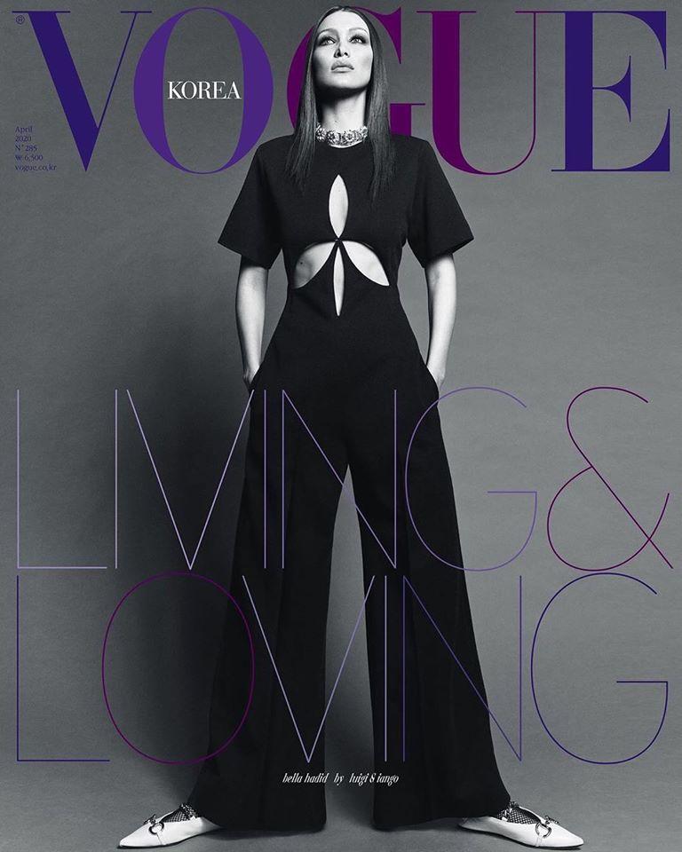Bella Hadid covers Vogue Korea April 2020 in Gucci