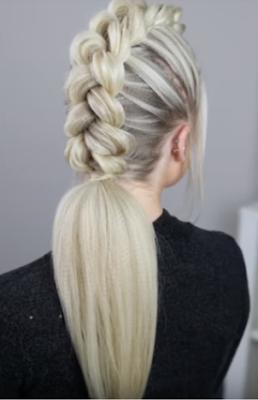 Luxury Makeup -  (Mohawk Dutch Braid Hairstyle Tutorial 2018)