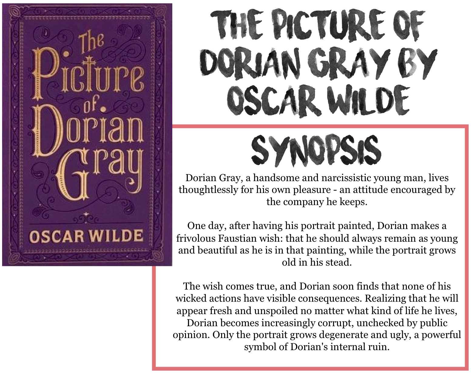 Horror Movie Essay A Review Of Oscar Wildes Book The Picture Of Dorian Gray Essay Helping Others also Examples Of An Essay Paper A Review Of Oscar Wildes Book The Picture Of Dorian Gray Essay Help The Crucible Essay On John Proctor