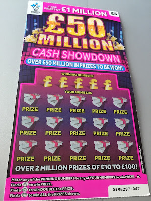 £5 £50Million Cash Showdown Scratchcard