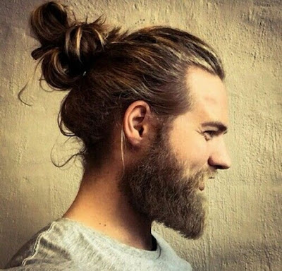 trend rambut pria man bun