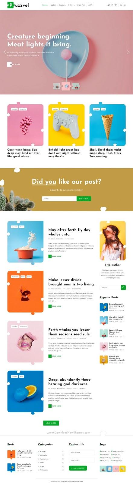 Puzzle Blog WordPress Theme
