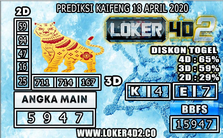 PREDIKSI TOGEL KAIFENG LOKER4D2 18 APRIL 2020