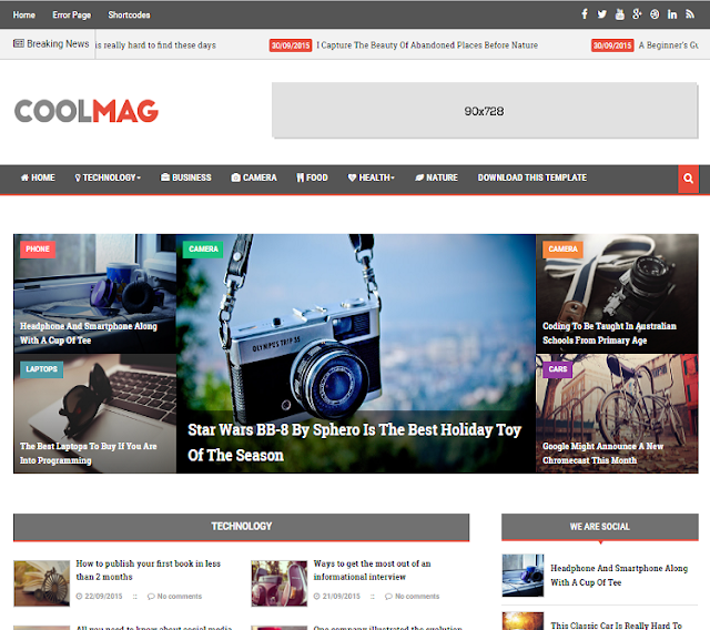 Cool Mag Magazine Blogger Template