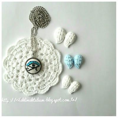 cross stitch, crossstitch, crossstitch necklace, kanavice, diy, kendin yap, el yapımı, handmade,kanaviçe, kanaviçe kolye, kolye, takı, hediye, hediyelik, el  yapımı, cileklimektubum, tığ işi, crochet,