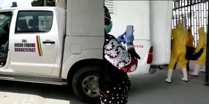 Covid-19: Moment NCDC officials moved corpse of man who died of Coronavirus at LUTH after lying about his travel history (video)