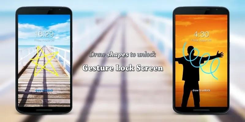 تطبيق Gesture Lock Screen