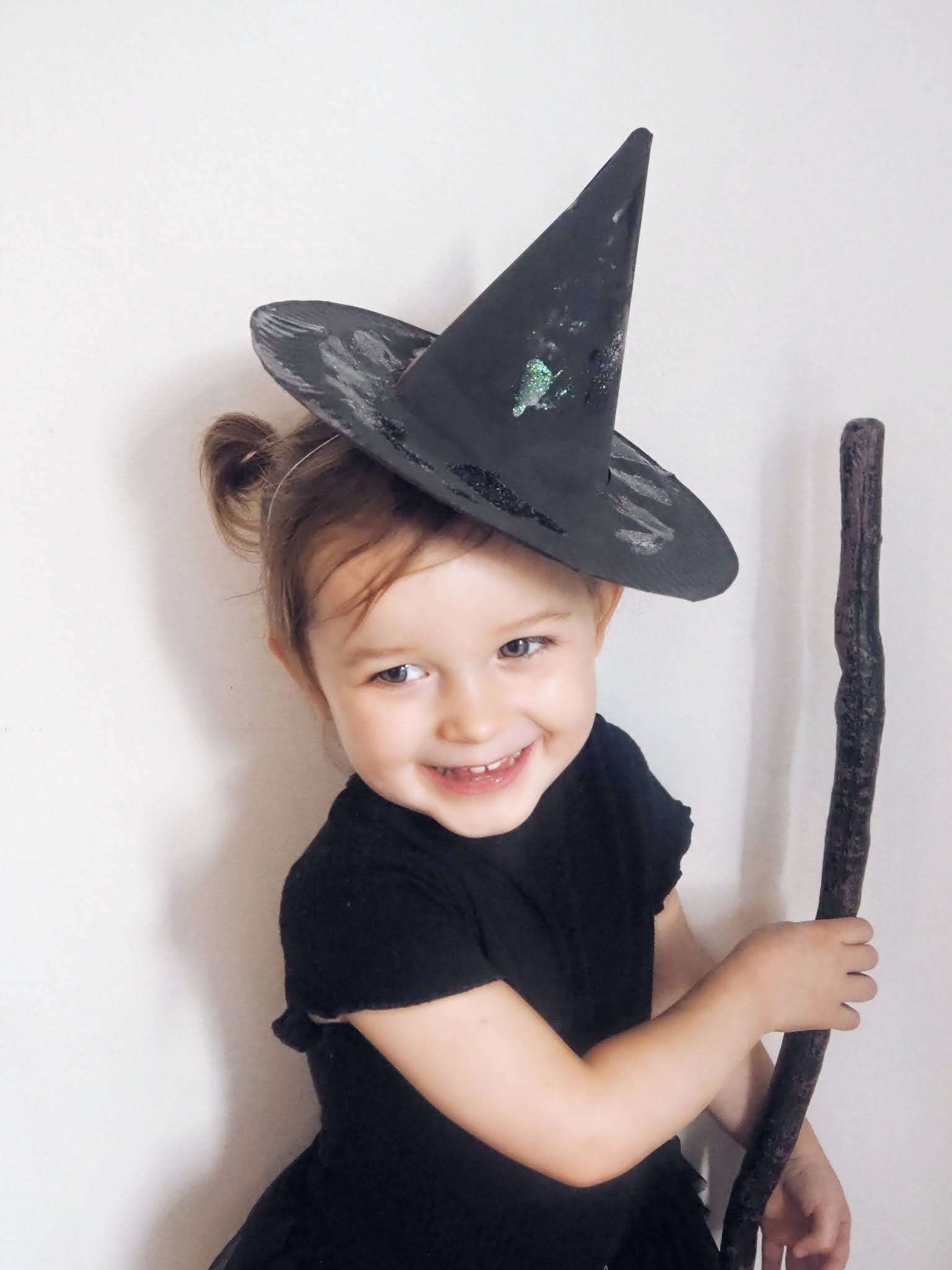 Toddler halloween witches hat