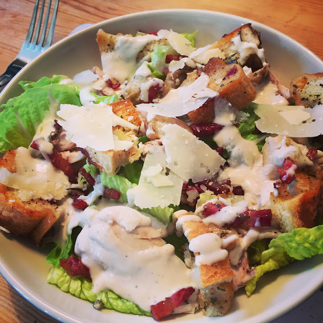 EPIC Chicken Caesar Salad, from scratch!