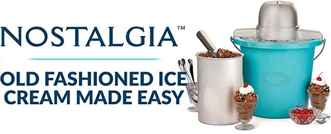 Nostalgia Electric 4-Quarts Ice Cream Maker