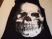 Boo Hoo Skull Black V-Shirt
