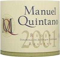 Bodegas y Viñedos Labastida Rioja Manuel Quintano Reserva 2001