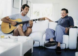 Mario Benedetti y Joan Manuel Serrat juntos