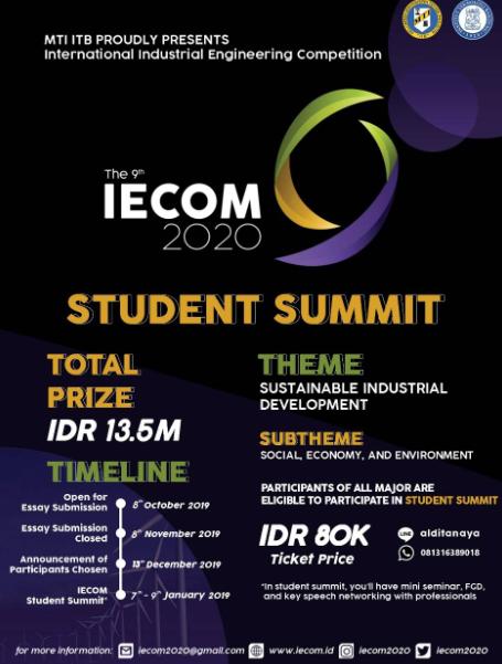 Lomba Teknik Industri IECOM 2020 di ITB