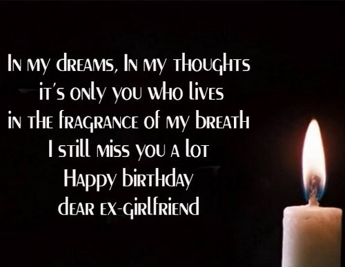 Emotional Birthday Wishes for Ex Gf