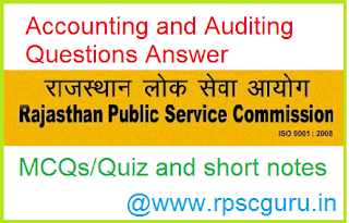 RPSC Junior Accountant and TRA Important Questions for Accounting and Auditing Part