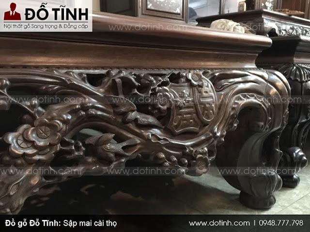 Hình ảnh mẫu sập gụ mai cài thọ đẹp tại Hải Minh
