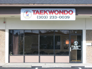 The front of the golden taekwondo school martial arts school