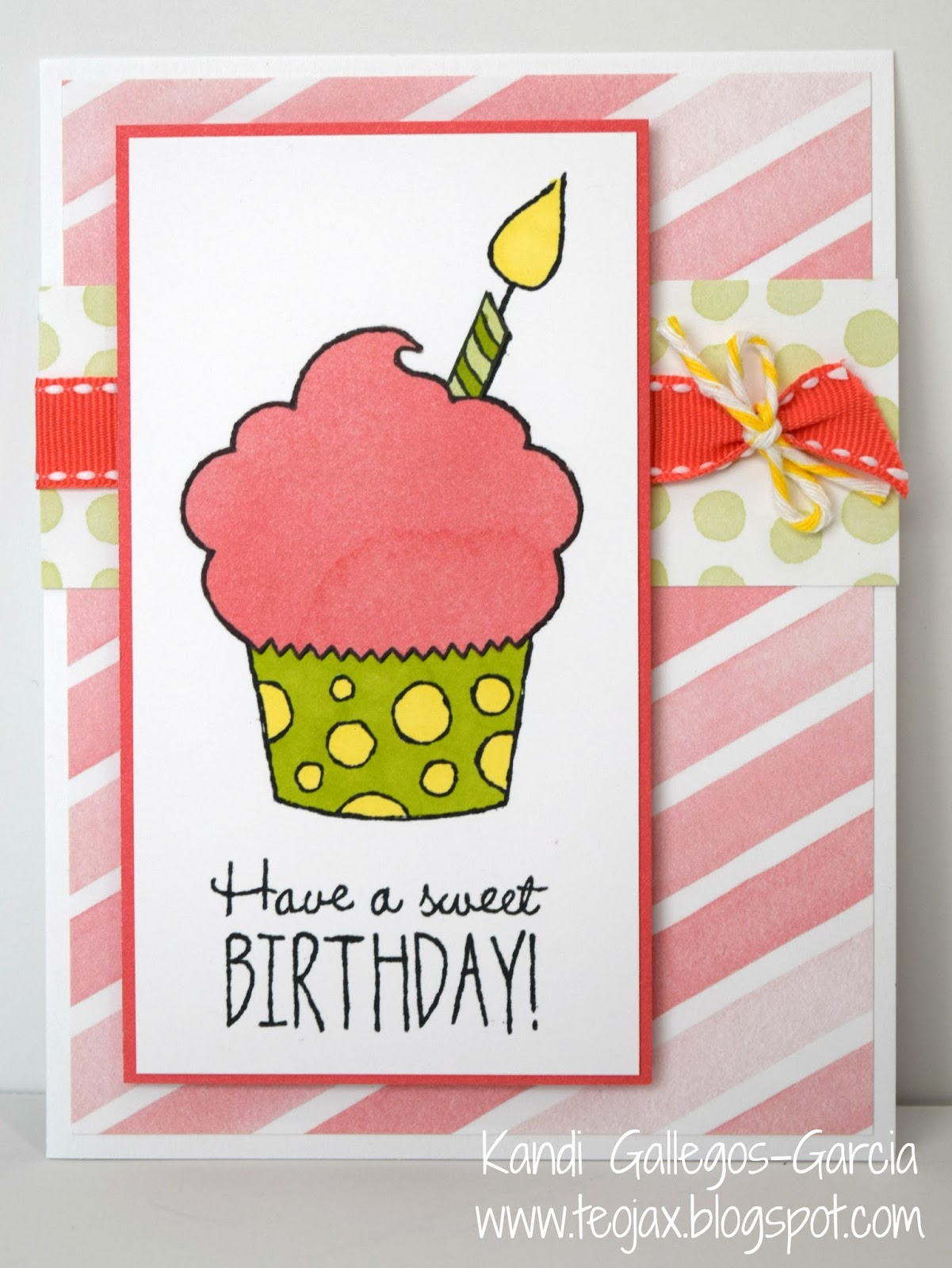 Teojax Have A Sweet Birthday Cupcake Card