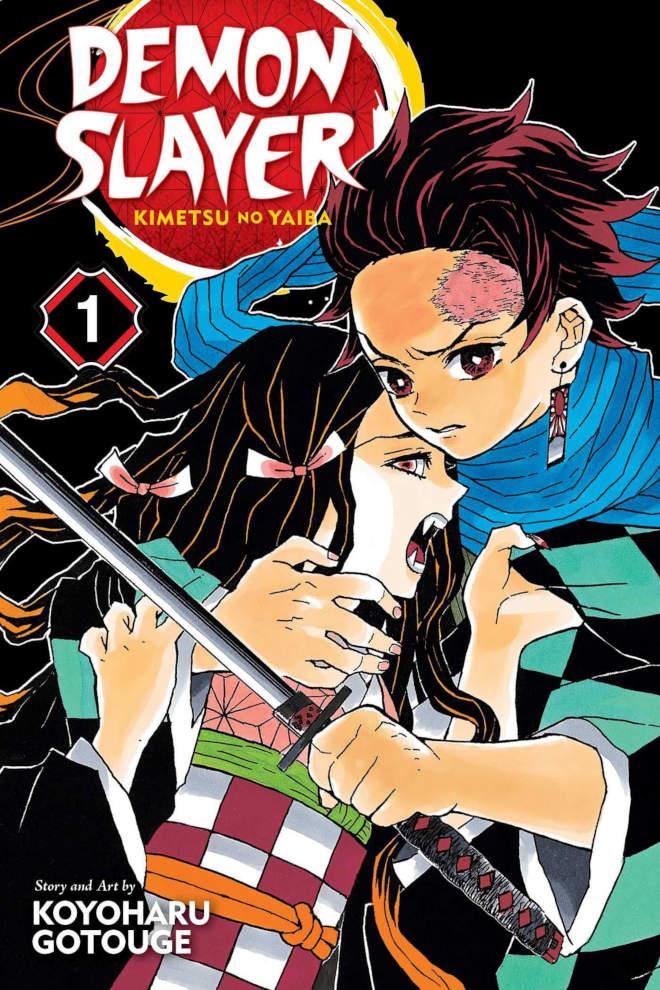 Okładka 1 tomu mangi Kimetsu no Yaiba