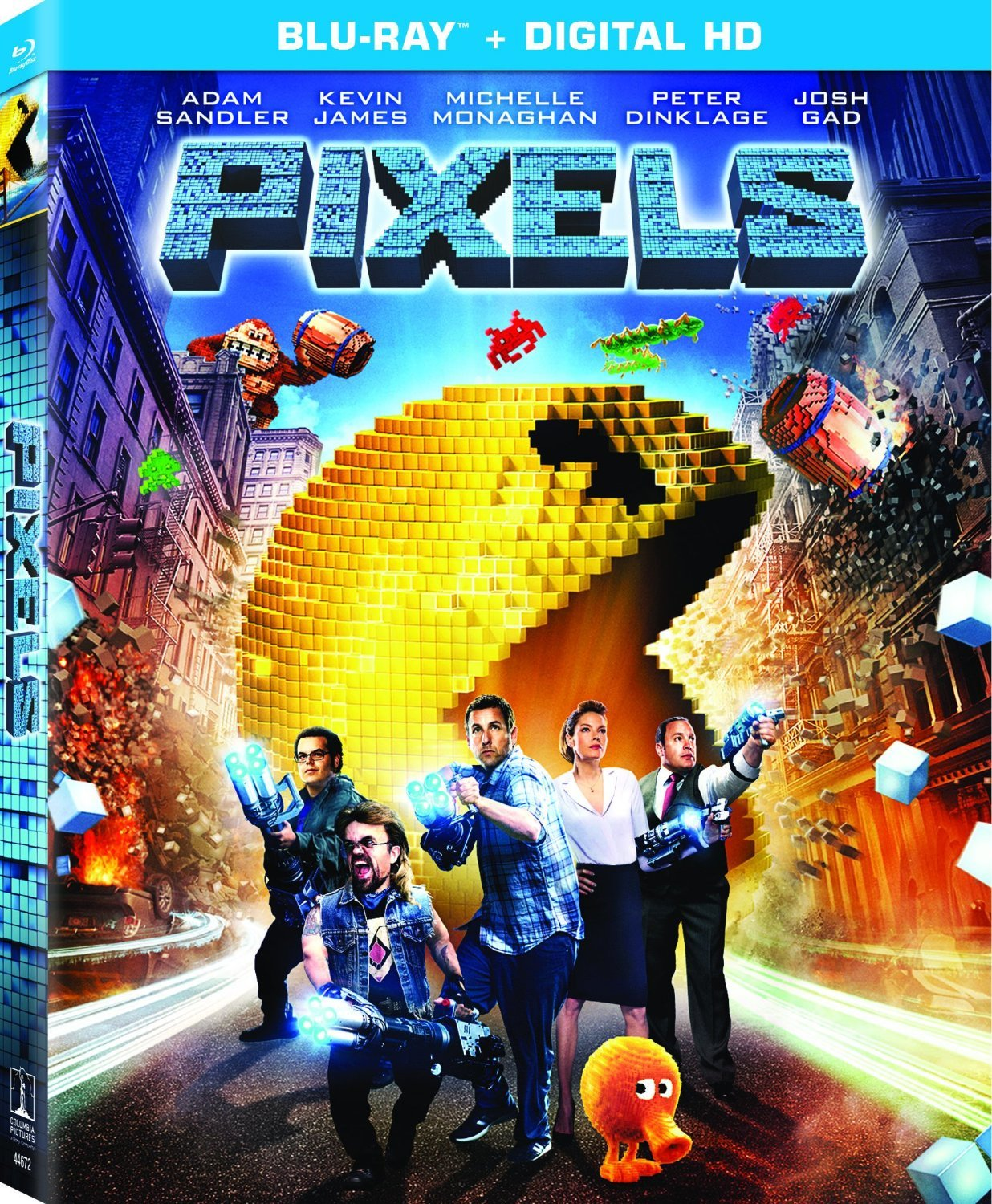 Pixeles (2015) 1080p BD25 Blu-ray Cover Caratula