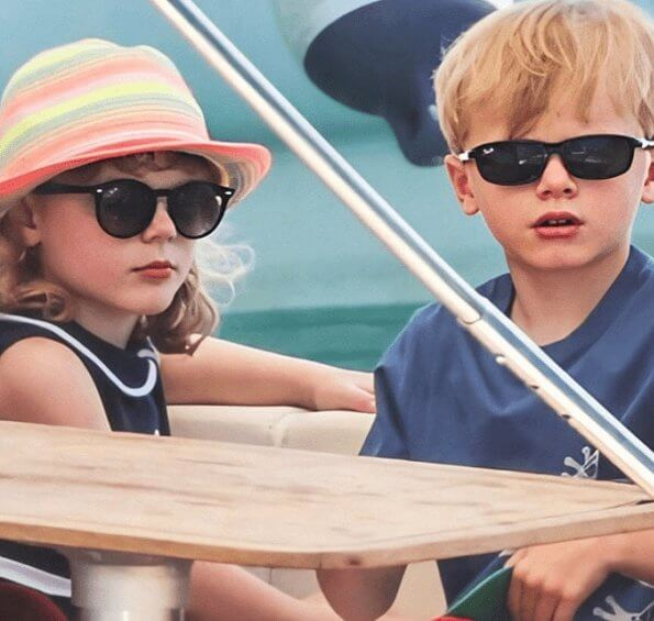 Prince Albert, Princess Charlene, Crown Prince Jacques and Princess Gabriella of Monaco started the summer holiday