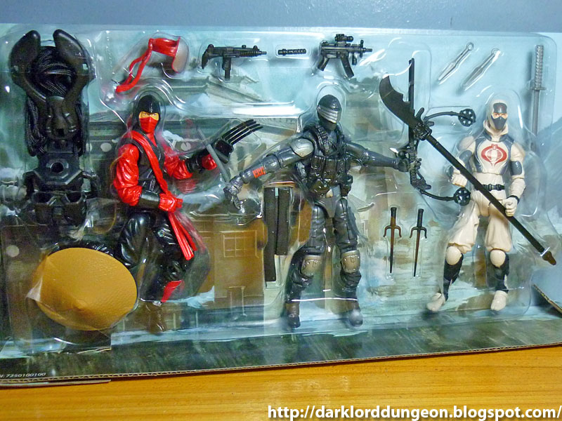 Red Ninja Joe Retaliation Ninja Showdown Set avec Snake Eyes Storm Shadow G.I