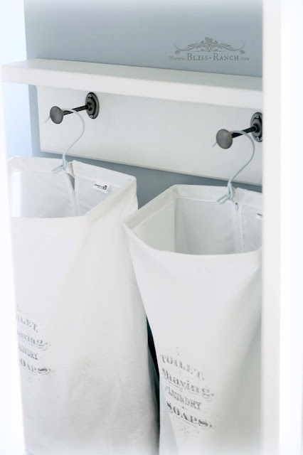 Jack & Jill Bathroom Hanging Laundry Hampers with Graphic, Bliss-Ranch.com