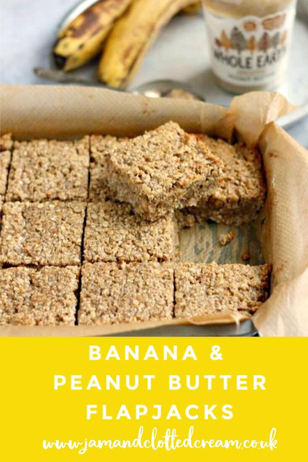 Banana and Peanut Butter Flapjacks #oats #bananas #peanutbutter #baking #easyrecipe #dairyfree