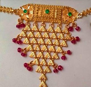 Gold Mini Aad jewelry design | Fdbnj