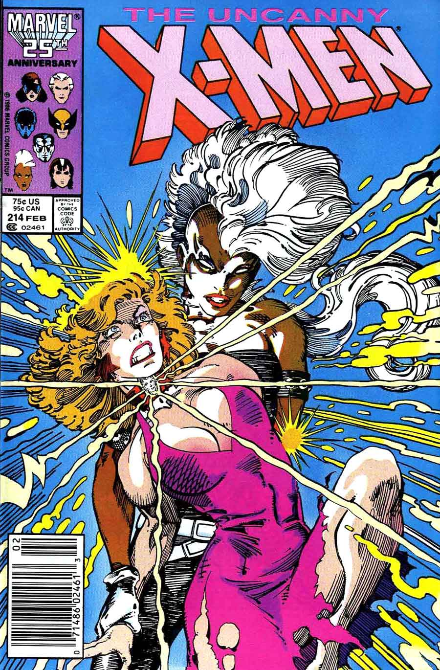 X-men v1 #214 marvel comic book cover art by Barry Windsor Smith