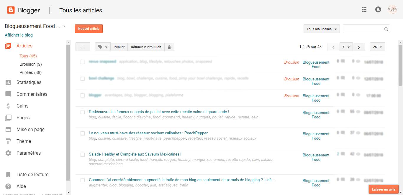 interface blogger