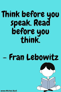 quote about reading and thinking