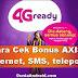Cara Cek AXIS Bonus Internet, Telepon dan SMS