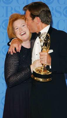 Mariellen Bergman with her husband receiving awards