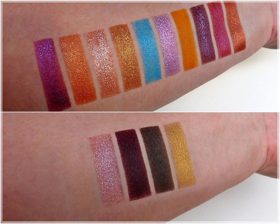 Swatches essence Jasmine Palette fly the magic carpet